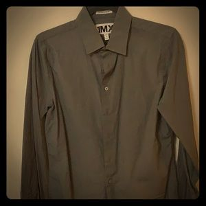 Express Small Extra Slim Fit Gray Shirt.